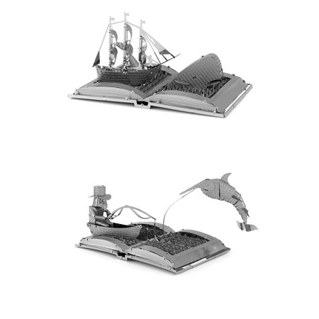 Metal Earth Book Sculpture 3D Metal Model Kits - Moby Dick & The Old Man and the Sea - Set of 2, Set Includes 2 Kits - Moby Dick Book Sculpture & The Old Man and.., By Fascinations (Earth Sculpture)