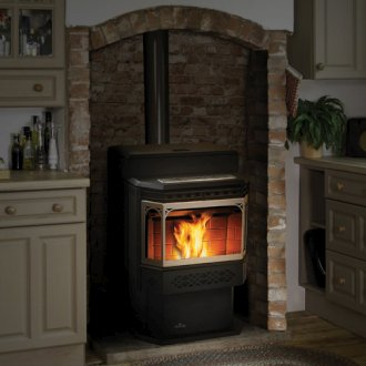 NPS45 Electronic Pellet Stove Painted Black