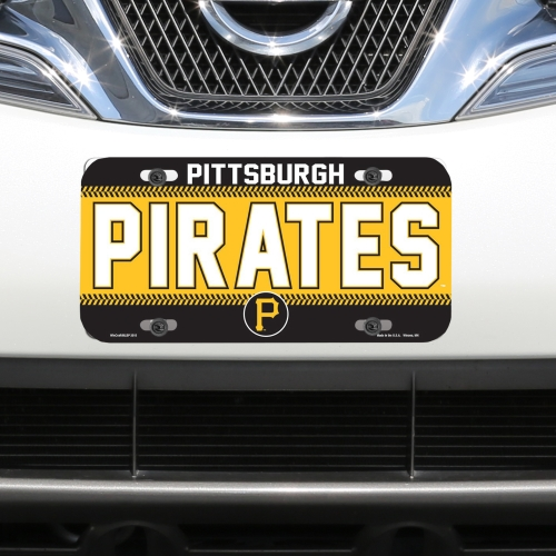 Pittsburgh Pirates WinCraft Logo Plastic License Plate - No Size