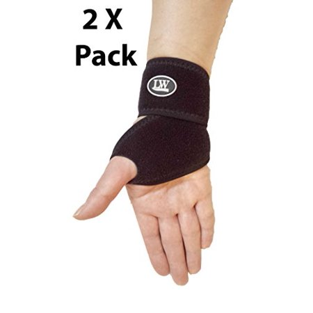 Two LW Neoprene Wrist Wrap Band Support Strap One size (Pack of 2) - image 1 of 1