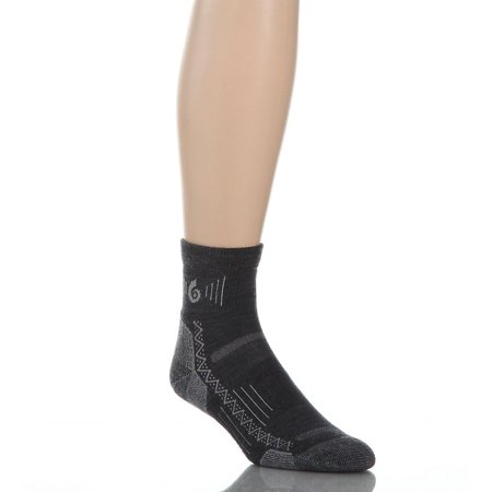 point 6 hiking tech light weight mini crew socks for low-cut hiking shoes