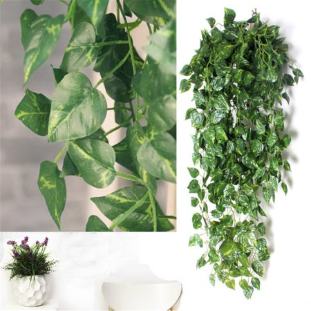 - 2 Bunch 4ft Artificial Silk Scindapsus Ivy Leaf Garland Plant Vine Foliage Decor Artificial Plants and Flowers