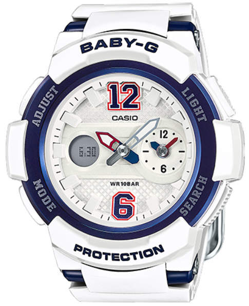 Baby-G Digital Analog White Sports, Watch BGA210-7B2