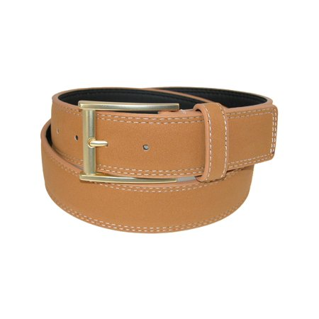 Men's Faux Suede Belt with Mock Roller