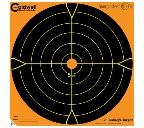 Caldwell Orange Peel 12-in Bullseye Targets, 50 SHeets - by CALDWELL SHOOTING SUPPLIES