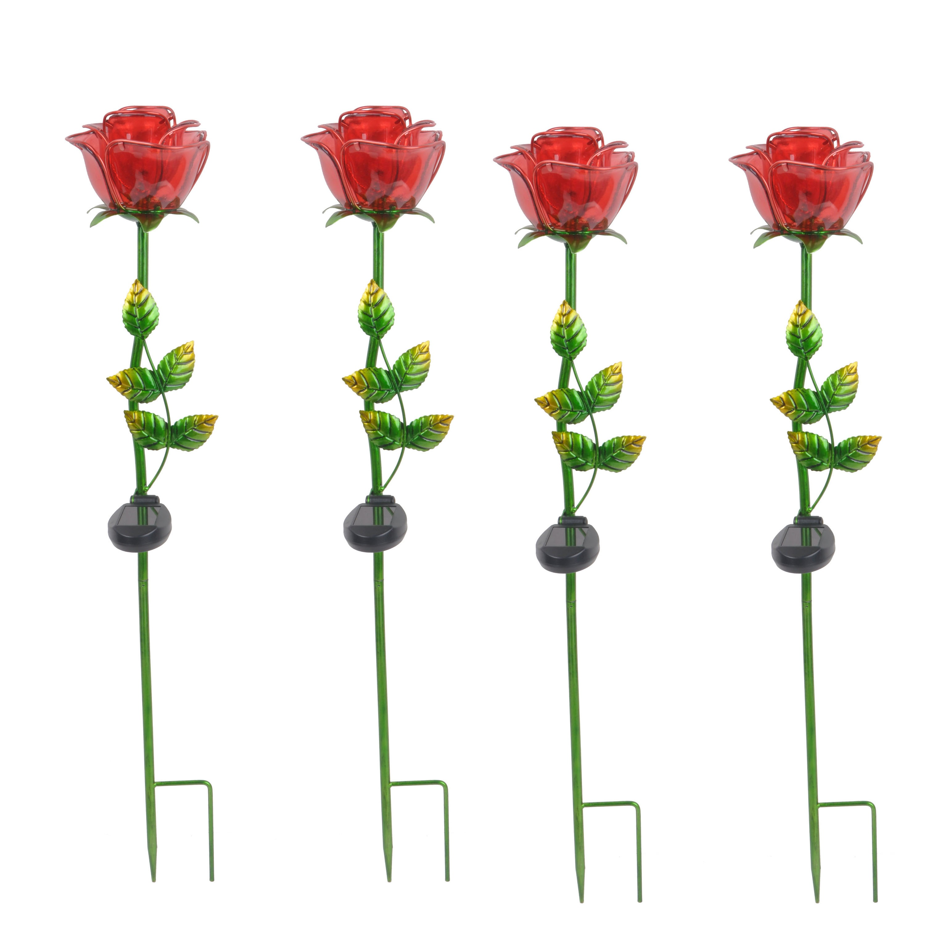 Better Homes & Gardens Outdoor Solar Rose Garden Stake - Set of 4