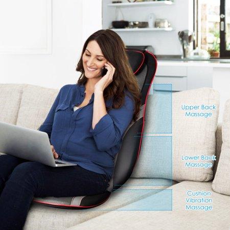 Shiatsu Neck Back Massage Seat Cushion w/ Hip Vibration & Heating Function - image 2 of 10