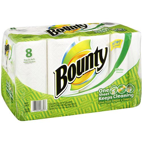 bounty paper towels regular 8 roll count. Black Bedroom Furniture Sets. Home Design Ideas