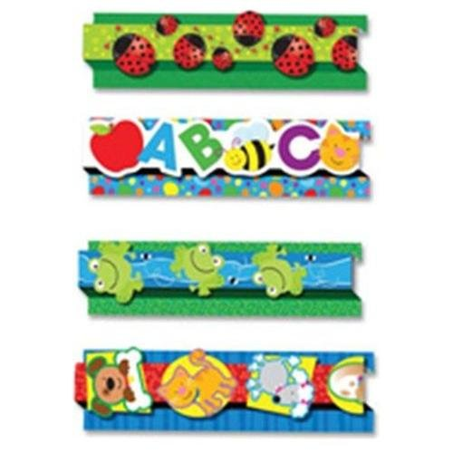 "Carson-dellosa Pop-its Frogs Border - Frog - 3"" X 24"" - Assorted (CDP108046)"