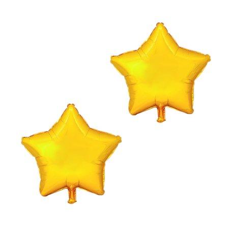 Gold Star Balloons (Unique Bargains Foil Star Shape Balloon Birthday Anniversary Decor Gold Tone 10 Inches 2)