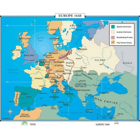 Universal Map World History Wall Maps   Europe 1648