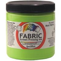 Speedball Art Products Fabric Screen Printing Ink Fluorescent, 8 oz, Blue