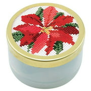 Herrschners Poinsettia Music Box Counted Cross-Stitch Kit