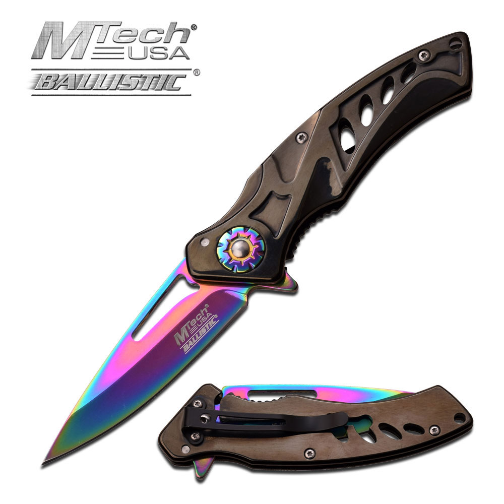 Linerlock A/O Black/Rainbow