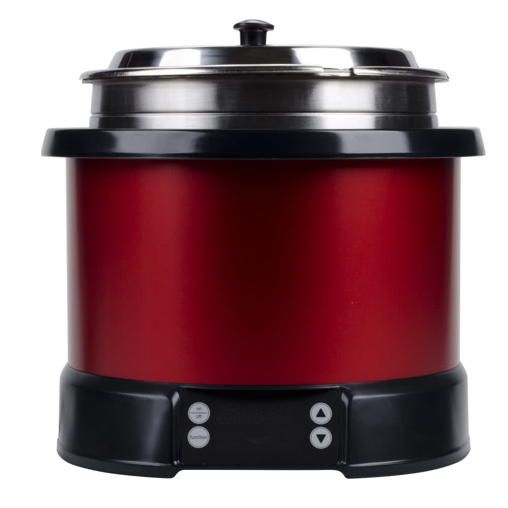TableTop king 72175 11 Quart Soup Rethermalizer Kettle Black - 120V, 900W