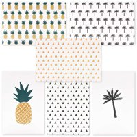 48-Count Assorted Greeting Cards, All Occasion Assortment Bulk Box Set Boxed Blank Card with Envelopes Value Pack, Tropical Hawaiian Pineapple and Palm Tree Designs, for Birthday Thank You Congrats