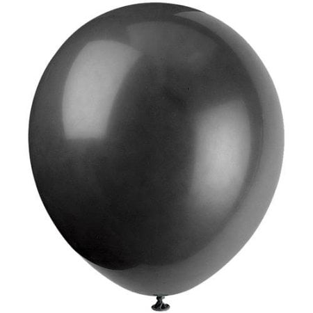 Latex Balloons, 9 in, Jet Black, 20ct, 4-Pack (80 Balloons)
