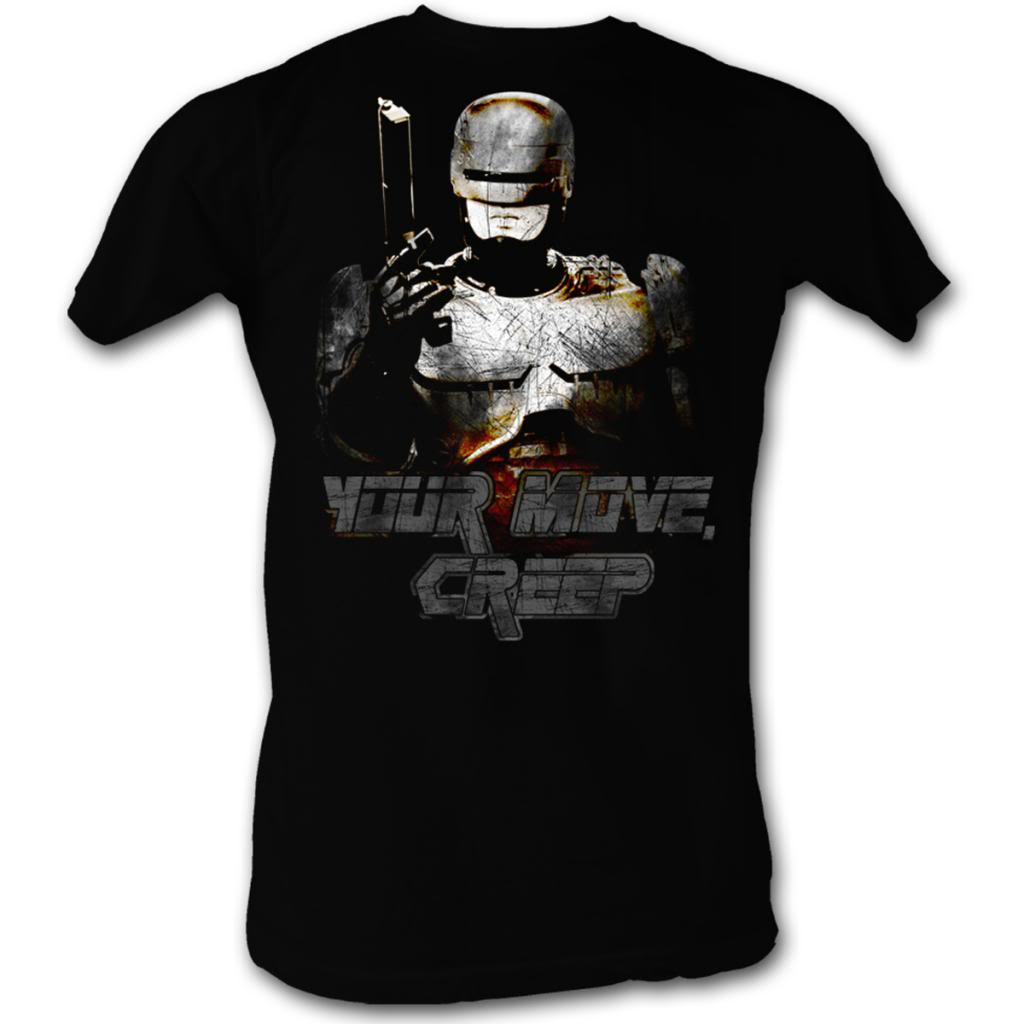 Robocop Movies Your Move Adult Short Sleeve T Shirt