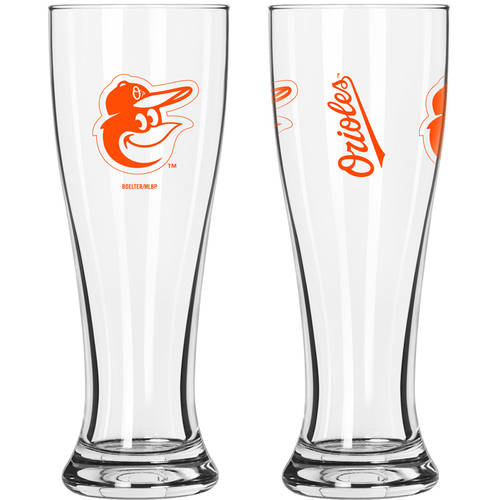 Boelter Brands MLB Baltimore Orioles 2-Pack Gameday Pilsner Set