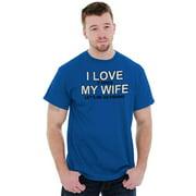 Fishing Mens T-Shirts T Shirts Tees Tshirt Love My Wife Fisherman Husband Gift