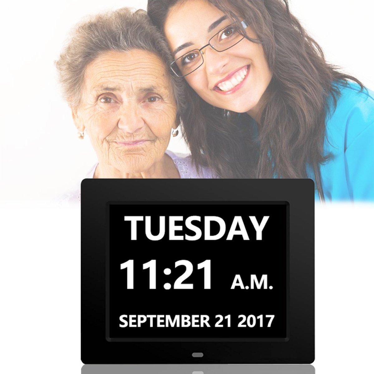 Digital Day Clock_ Hosyo 8 Memory Loss Dementia Day Clock...