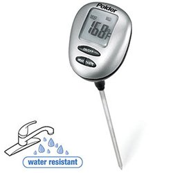 Polder Speed-Read Instant Read Thermometer with Presets, Silver