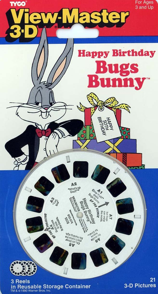 View-Master Classic 3Reel Set Happy Birthday Bugs Bunny By View Master by