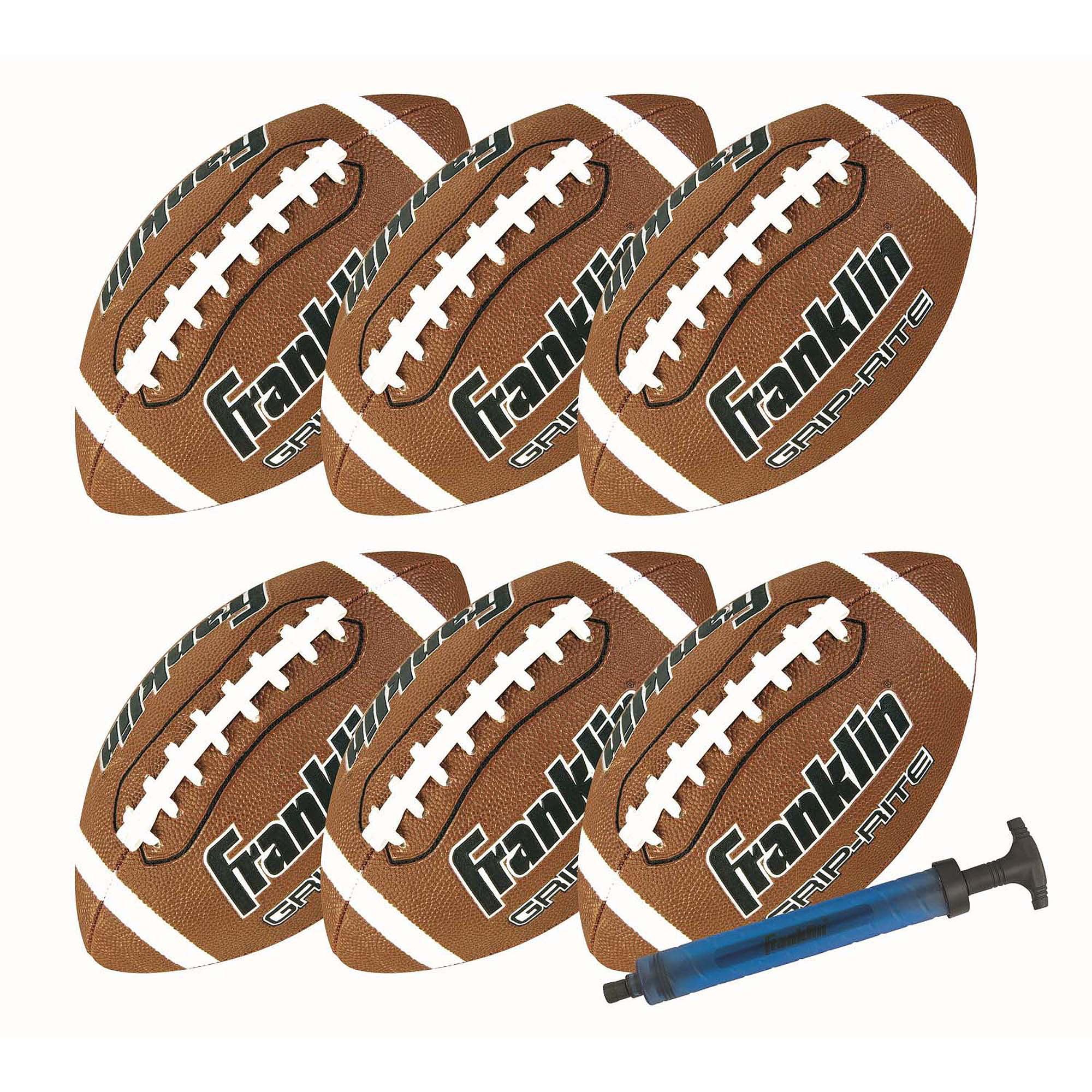 Franklin Sports Official Grip-Rite Football Team Pack/Pump