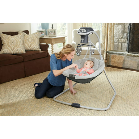 Graco Simple Sway LX Baby Swing with Multi-Direction, Teddy