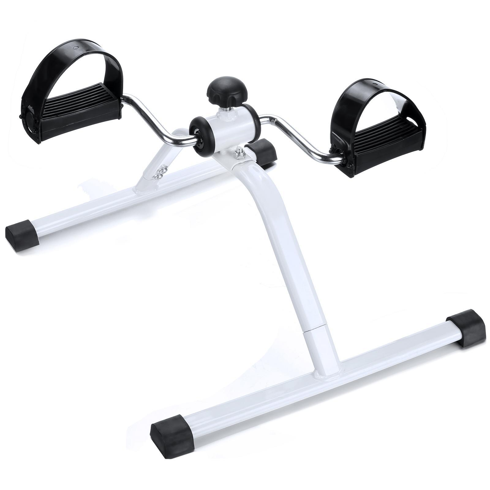Leg Pedal Exerciser, Mini Exercise Bike Arm and Leg Exerciser- White