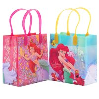 Disney Little Mermaid 12 Party Favor Goodie Small Gift Bags 6""