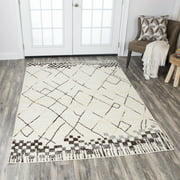 Rizzy Home XI6947 Beige 8' x 10' Power-Loomed Area Rug