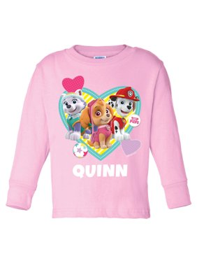 Personalized PAW Patrol Pup Toddler Pink Long Sleeve Tee