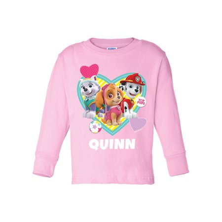 Personalized Paw Patrol Pawfect Pup Toddler Girls Pink Long Sleeve Tee for $<!---->