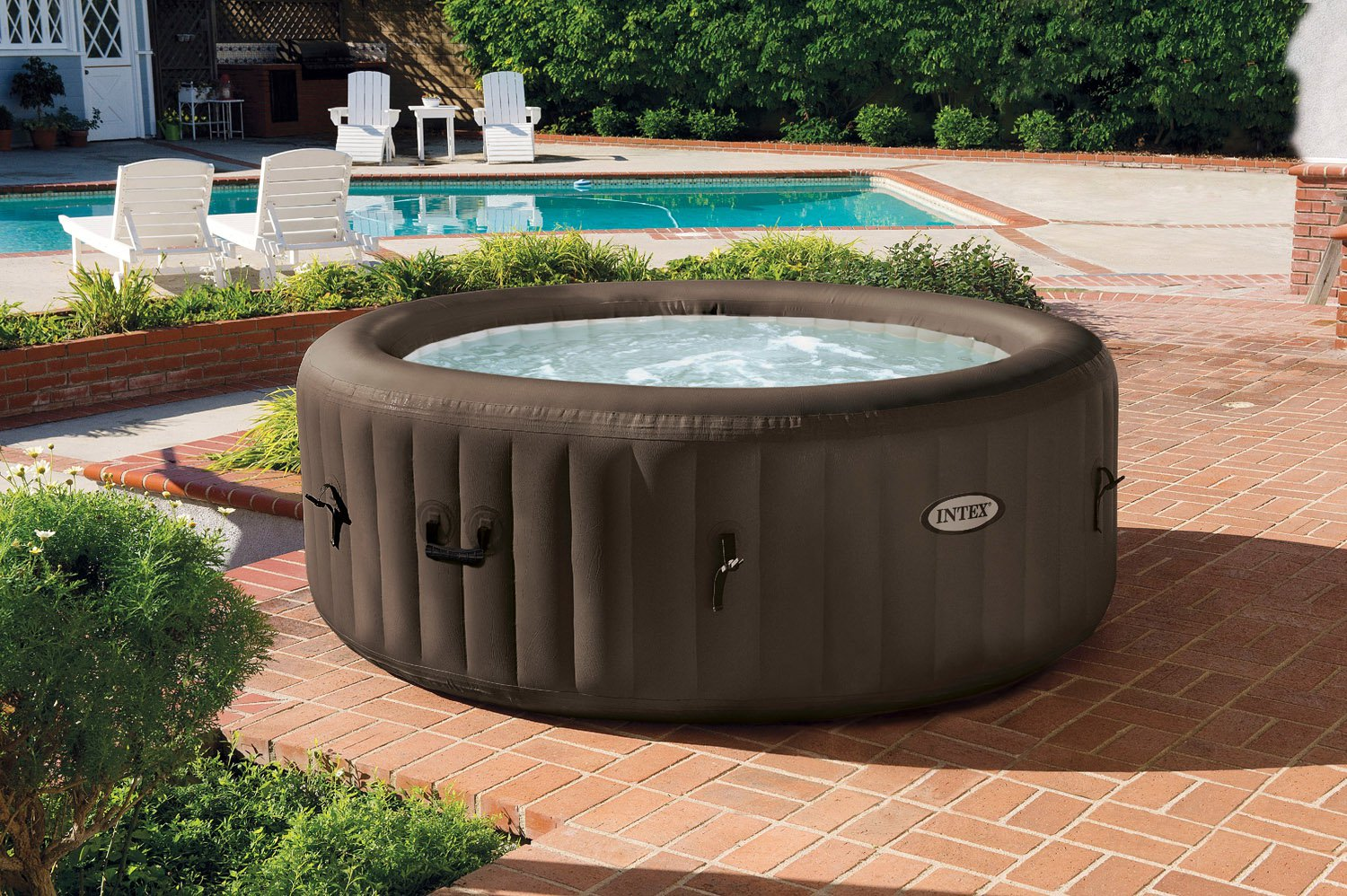 Intex Pure Spa 4 Person Inflatable Portable Heated Jet Massage Hot Tub |  28423E