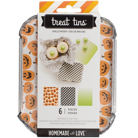 Homemade With Love Food Craft Tins Small 3/Pkg-Halloween (Homemade Halloween)
