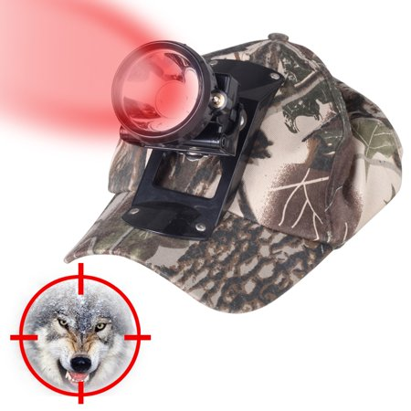 Kohree 3W LED Red Light Cap Hunting Headlight for Coon Predator Coyote Fox Hunting (Led Cup Light)