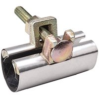 B & K 160-605 1-Bolt Pipe Repair Clamp, Stainless Steel