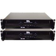 Seismic Audio Pair of  Power Amplifiers PA DJ Amp 4000 Watts Rack Mountable NEW - MBG-4000Pair