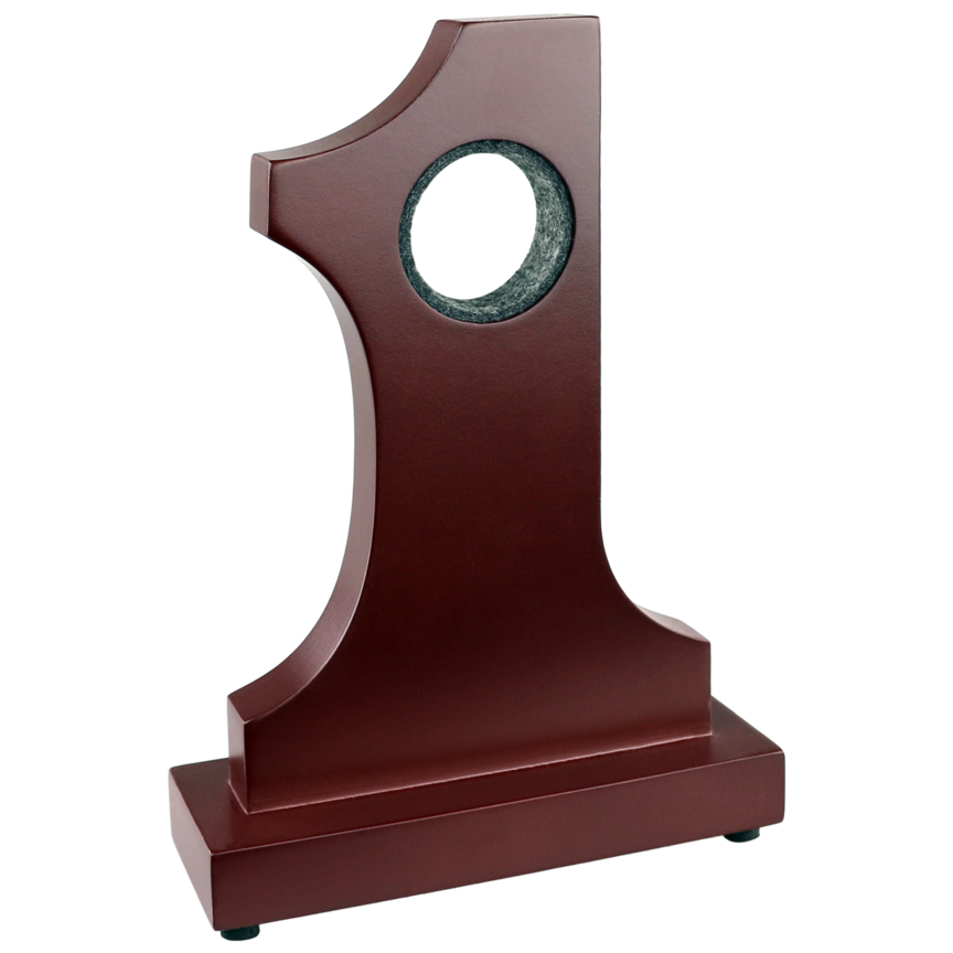 Rosewood Hole-in-One Trophy with Golf Ball Display and Plaque