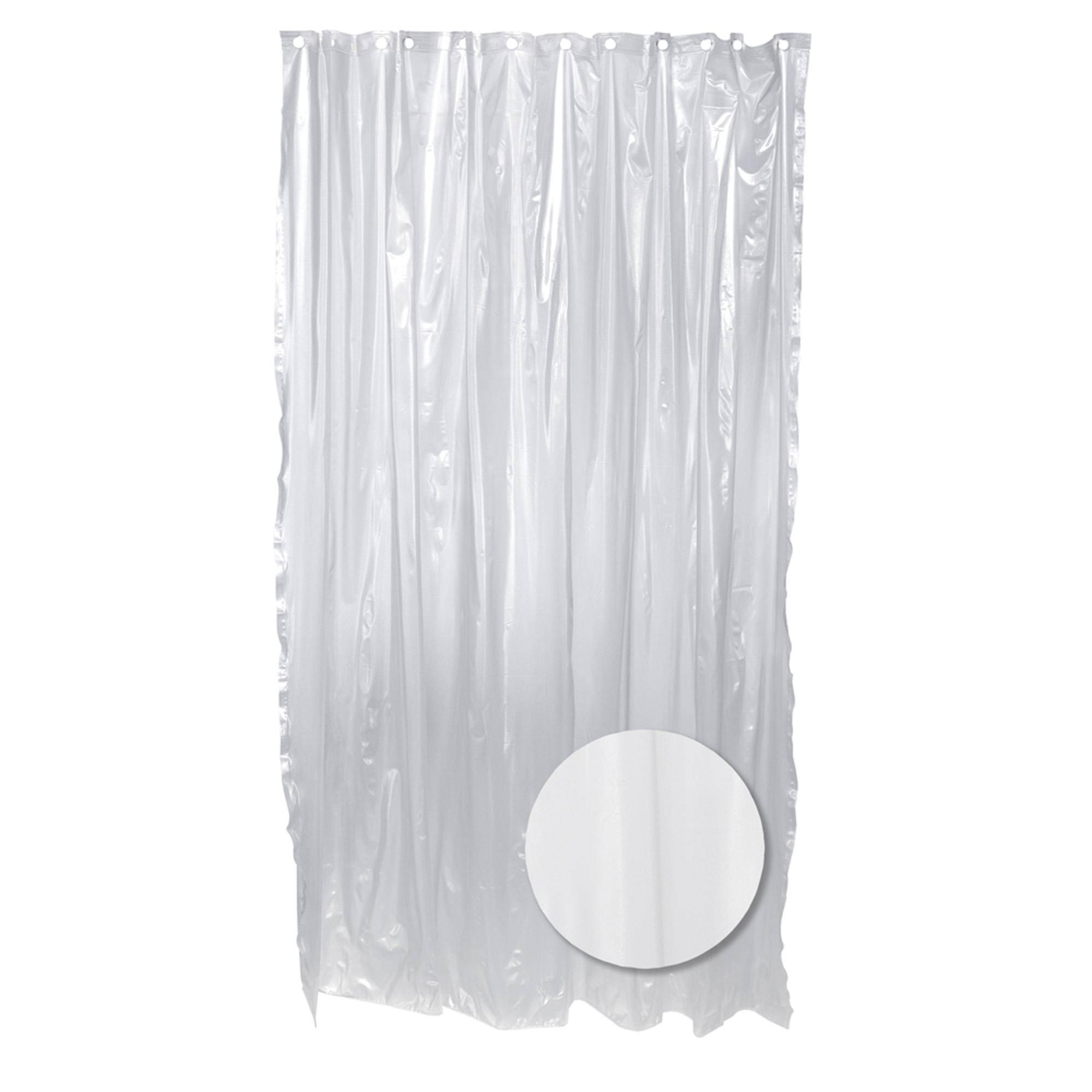 Zenna Home Vinyl Shower Liner, Frosty