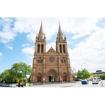 Facade of a cathedral St Peters Cathedral Adelaide South Australia Australia Poster Print by Panoramic Images (36 x 24) (St Peters Cathedral)