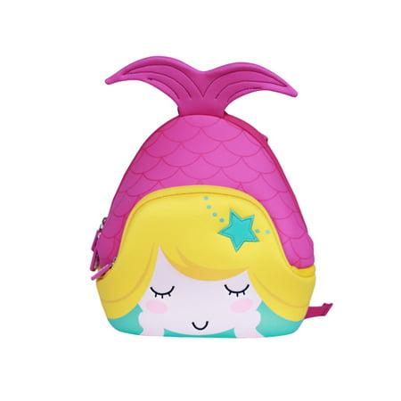 ab88254f679 Nohoo Neoprene Mermaid Small Backpack Toddler Kids, Purple
