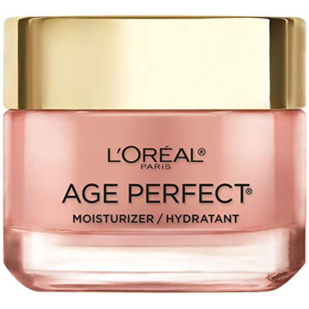 Face Moisturizer by L'Oreal Paris Skin Care, Age Perfect Rosy Tone Moisturizer for Face with LHA and Imperial Peony, Anti-Aging Day Cream for Face, Non-greasy, 2.55 Ounce (Packaging May Vary)