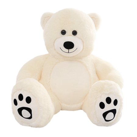 WOWMAX 3 Foot Giant Teddy Bear Danny Cuddly Stuffed Plush Animals Teddy Bear Toy Doll for Birthday Christmas Ivory 36 Inches