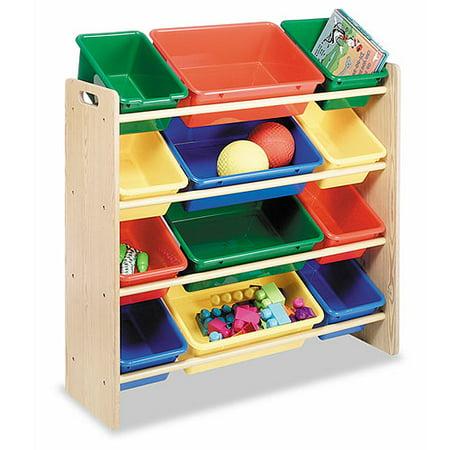 Whitmor kids39 12 bin organizer primary colors walmartcom for Whitmor document boxes set of 5