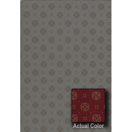 Milliken Indian Red Sonata - Milliken Imagine Area Rugs - ASIANA Contemporary Kimono Red Hoops Geometric Rings Loops Rug