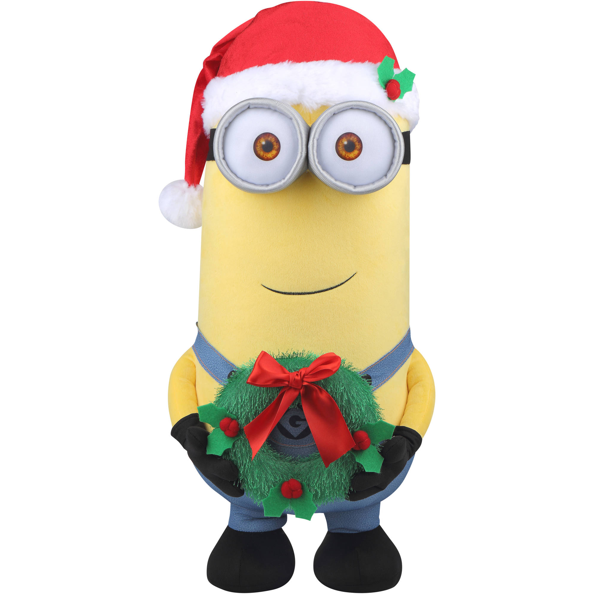 "Holiday Time Universal 12448 24"" Christmas Minion Kevin Plush Greeter"