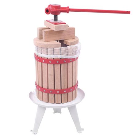 6L Apple Grade Crusher Fruit and Wine Oak Press Machine Wood Color & White