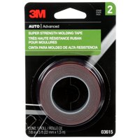 3M Super Strength Molding Tape, 03615, 7/8 in x 5 ft, 1 Roll